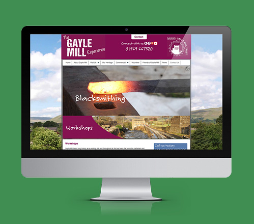 Blacksmithing webpage on Gayle Mill Trust website