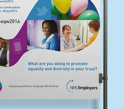 NHS Confederation diversity and human rights Poster zoom