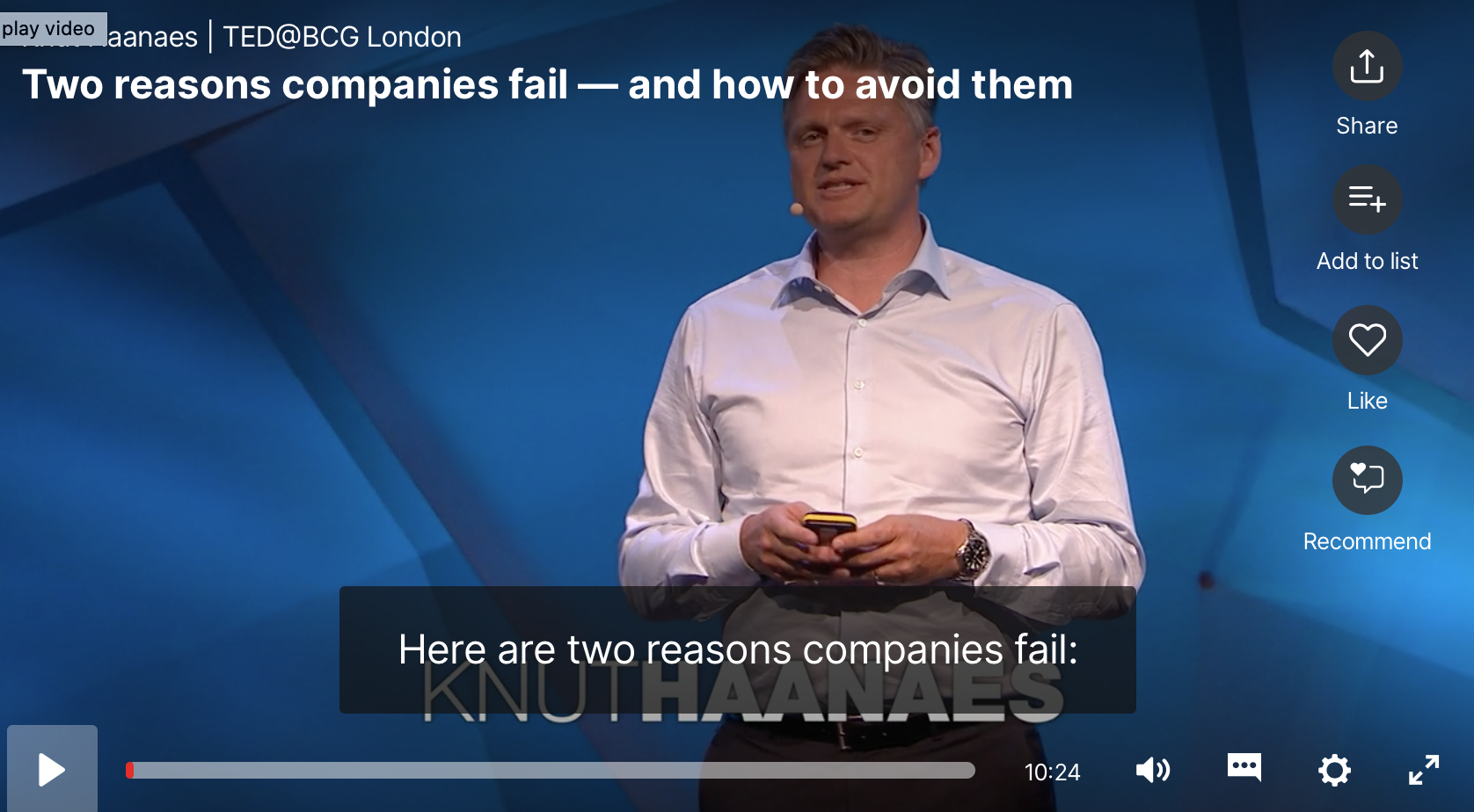 Two main reasons companies fail - and how to avoid them