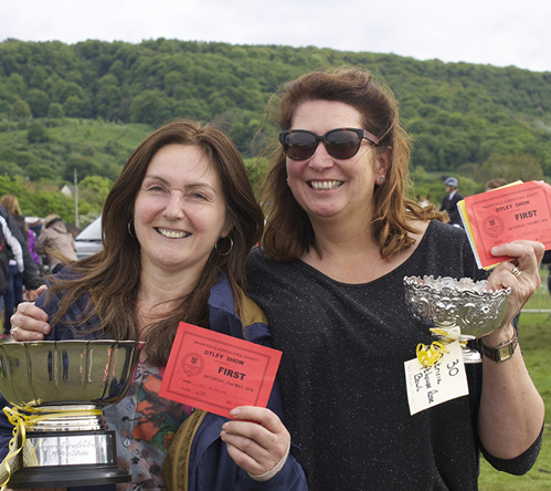 Smiling ladies with trophies at Otley Show 2016