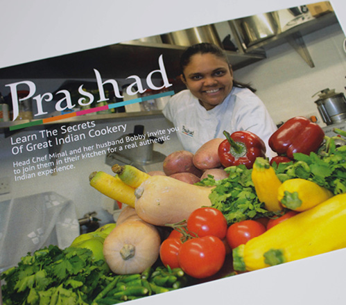 Cookery demonstration day promotional card