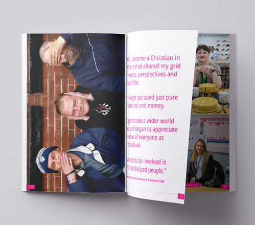 Entertaining More Angels book inside double page spread