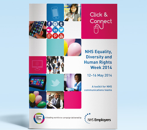 Diversity Kit Brochure front cover that we designed for NHS Confederation