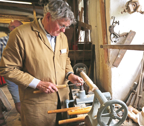 Woodturning in action at Gayle Mill