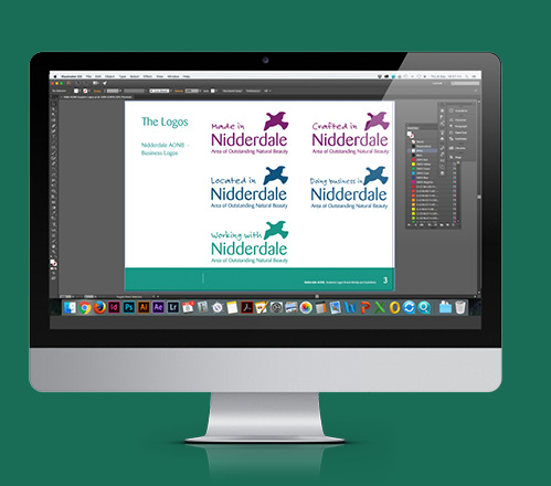 Working on the different variations of the Nidderdale AONB logo