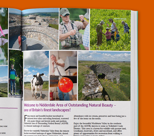 Nidderdale Visitor guide double page spread zoom