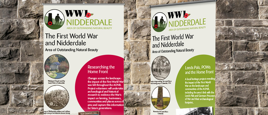 Pop up WW1 Banners created for Nidderdale