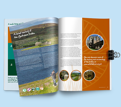 Double page spread in Distinctly dales brochure